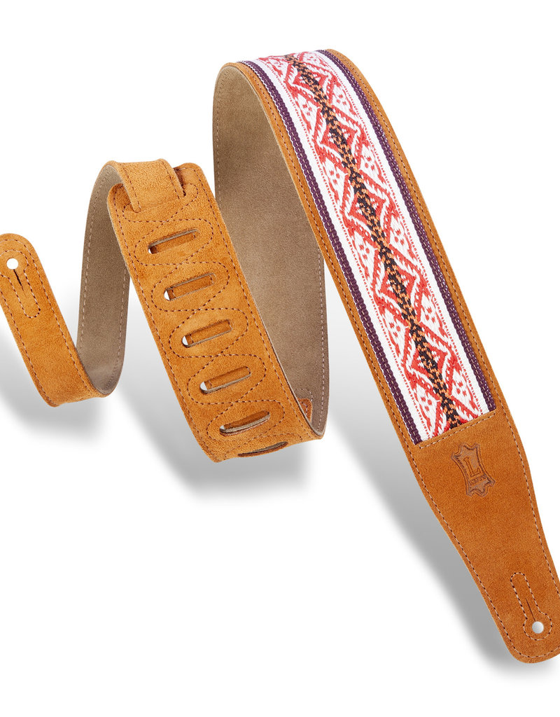 "Levy's Leathers Levy's MSJ26-HNY 2.5in"" Suede Guitar Strap"