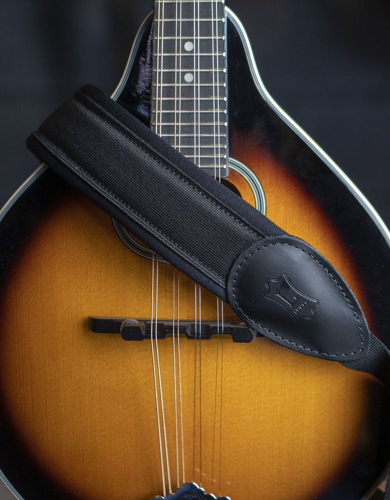 """Levy's Leathers Levy's M27NP-BLK 2 in"""" Neoprene Padded Saxophone Strap"""