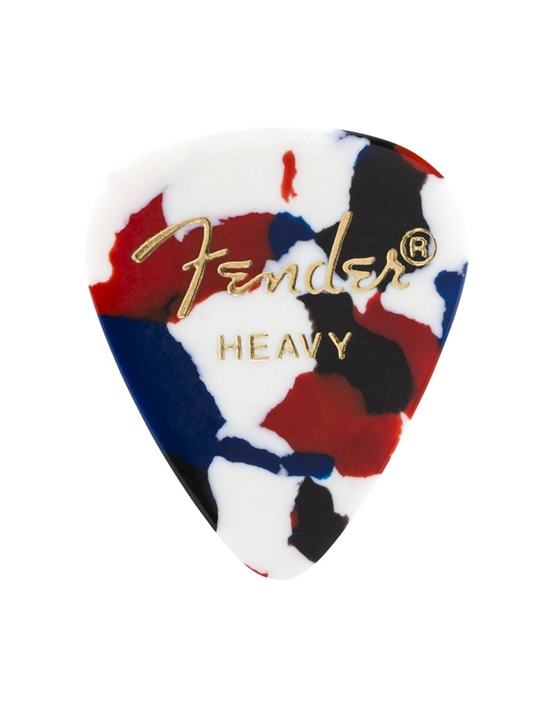 Fender Fender 351 Premium Celluloid Guitar Picks 12-Pack - Confetti Moto - Heavy