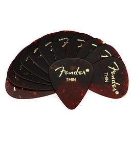 Fender Fender 351 Premium Celluloid Guitar Picks 12-Pack - Tortoise - Thin