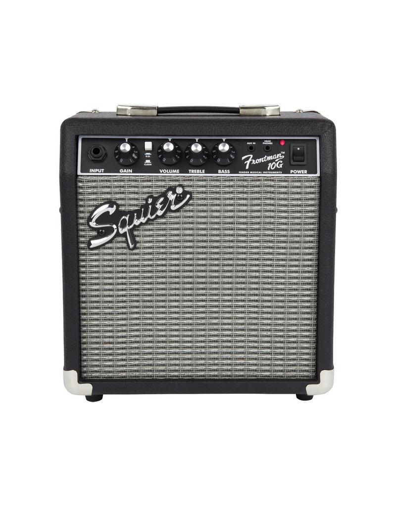 Squier Squier Stratocaster Pack, Laurel Fingerboard, Black, Gig Bag, 10G - 120V