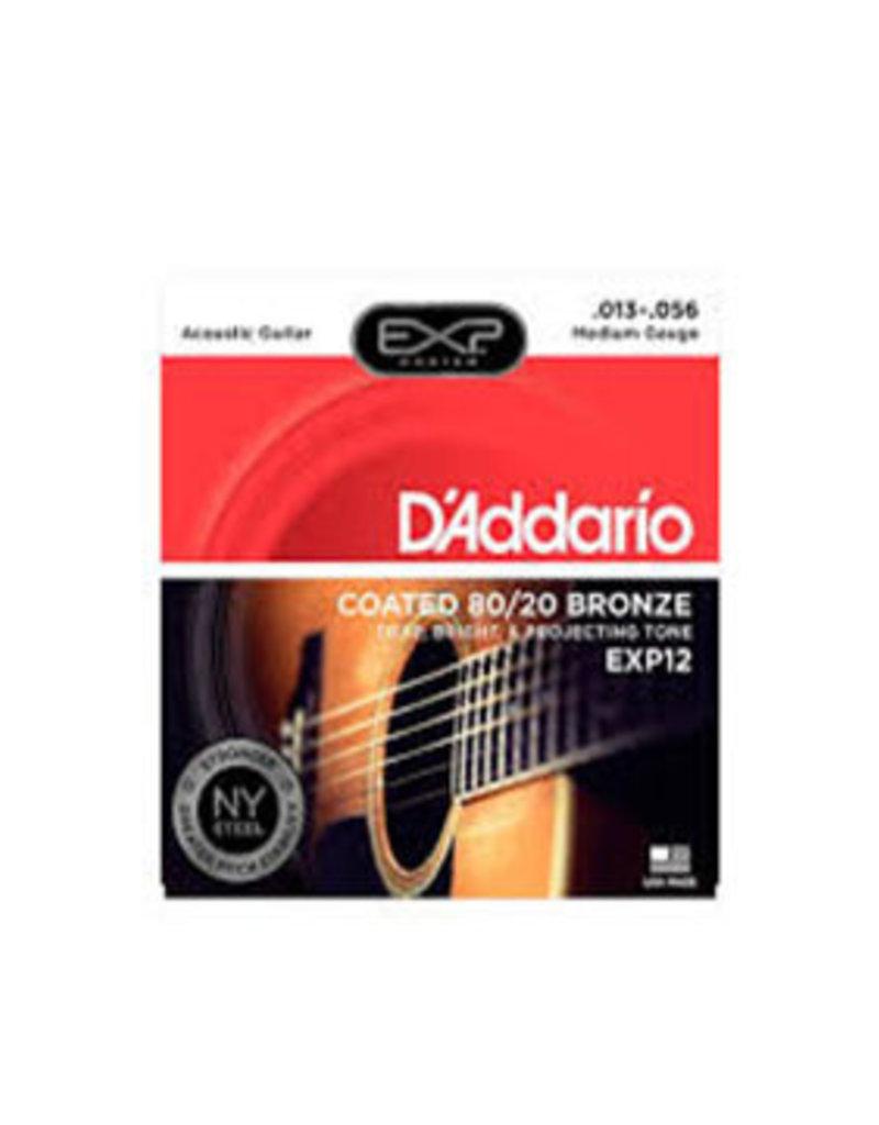 D'Addario D'Addario EXP12 Medium Coated 80/20 Bronze Acoustic Strings - .013-.056