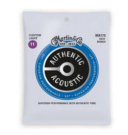 Martin Martin MA175  80/20 Bronze Custom-Light Authentic Acoustic Guitar Strings