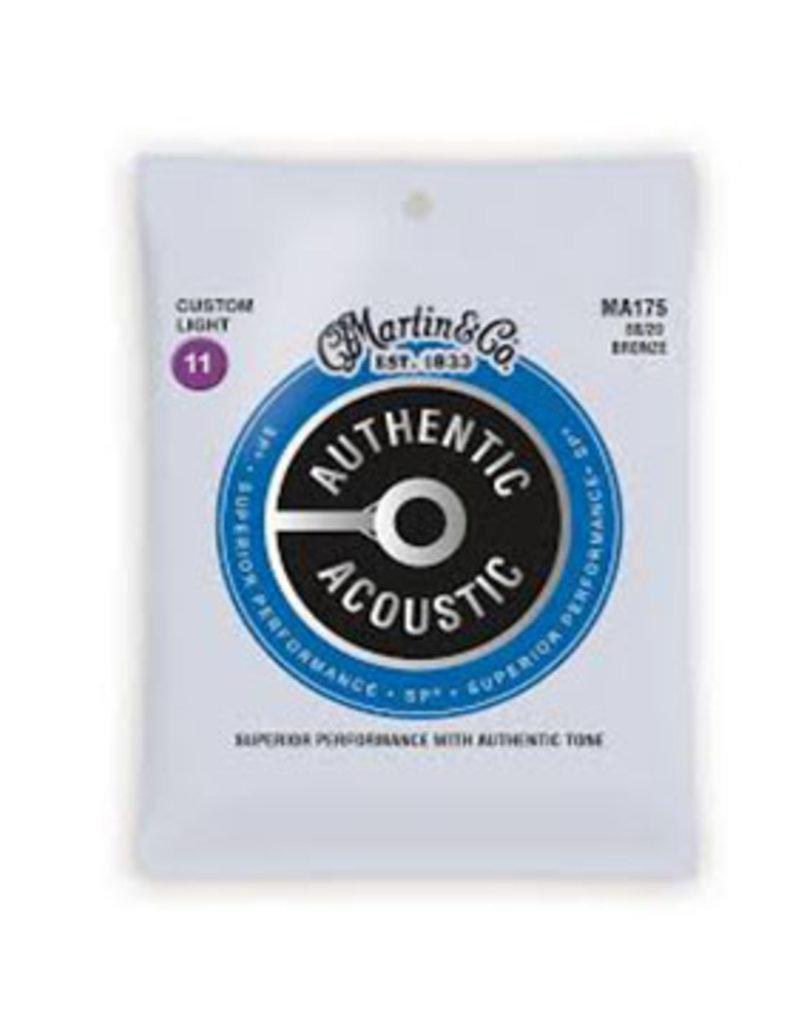 Martin Martin MA175  80/20 Bronze Custom-Light Authentic Acoustic Guitar Strings