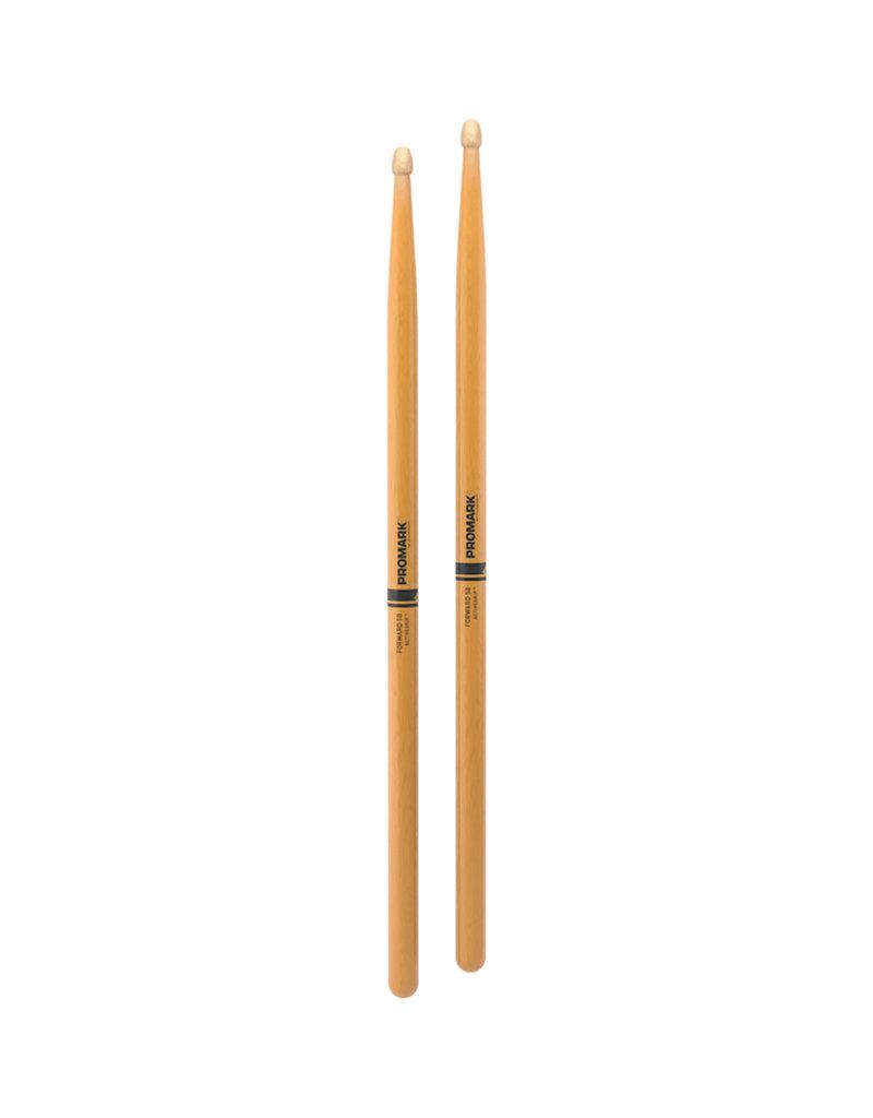Promark FORWARD 5B FIREGRAIN Hickory Wood Tip Drumstick