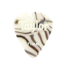 Taylor Taylor Celluloid 351 Picks, Abalone, 0.71mm, 12-Pack