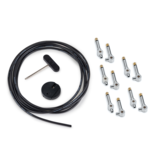 RockBoard RockBoard PatchWorks Solderless Patch Cable Set - 3 m / 9.8 ft. Cable + 10 Plugs - Chrome