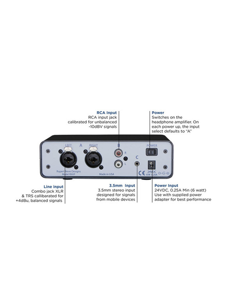 Rupert Neve Designs Rupert Neve Designs RNPH Precision Headphone Amplifier