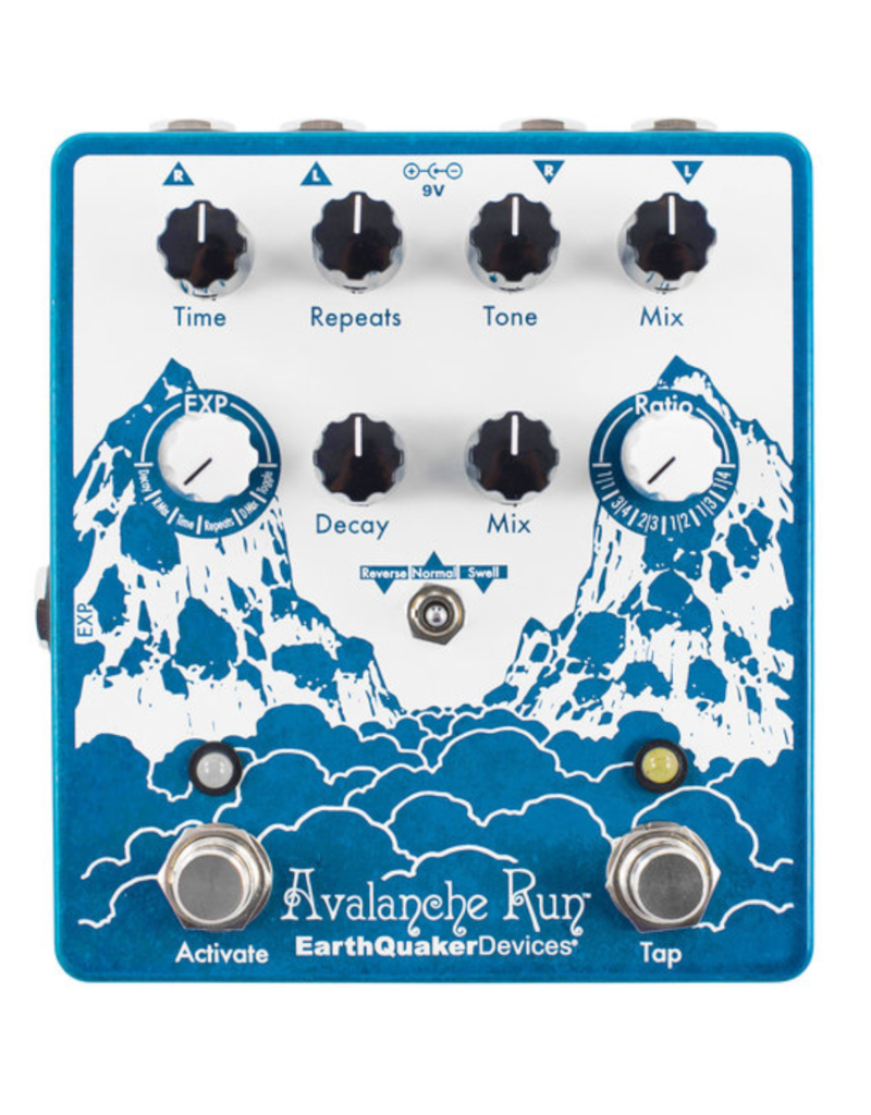 EarthQuaker Devices Earthquaker Devices Avalanche Run V.2 Stereo Delay and Reverb