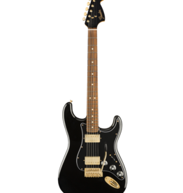 Fender Fender  Limited Edition Mahogany Blacktop Stratocaster®, Pau Ferro Fingerboard, Black with Gold Hardware