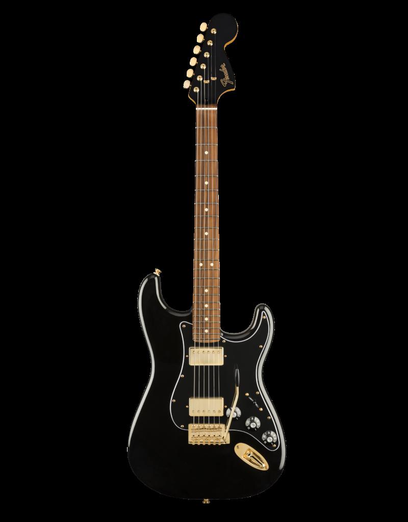 Fender Fender  Limited Edition Mahogany Blacktop Stratocaster®, Pau Ferro Fingerboard, Black with Gold Hardware