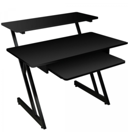 On Stage WS7500B Wood Workstation (Black)