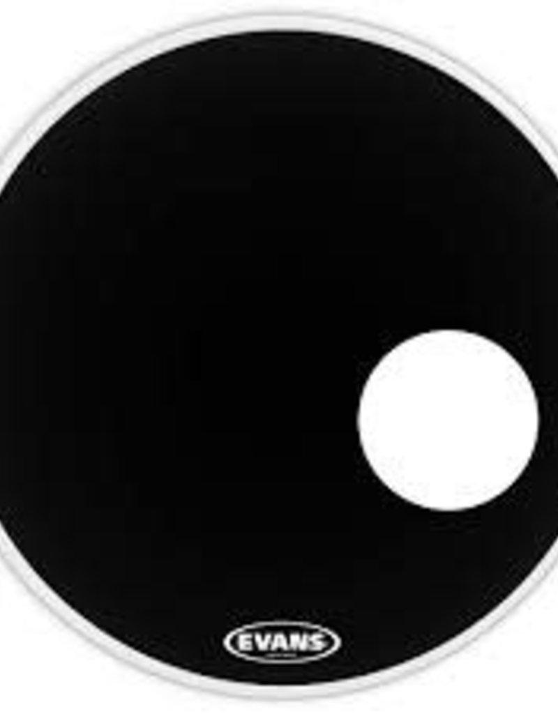 """Evans Evans EQ3 RESO BLACK 24"""" Smooth Black Bass Drumhead"""