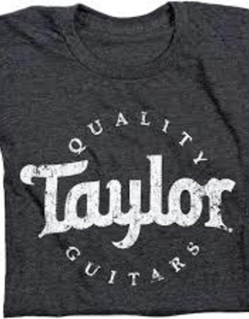 Taylor Taylor Men's Aged Logo T-Shirt - Black Medium