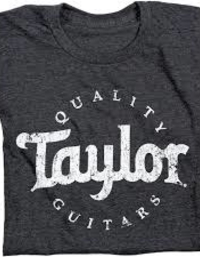 Taylor Taylor Men's Aged Logo T-Shirt - Black Large