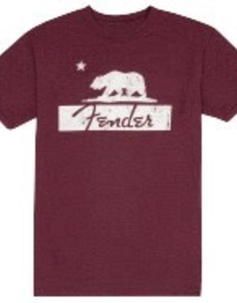 Fender Fender Burgundy Bear T-Shirt Size Large