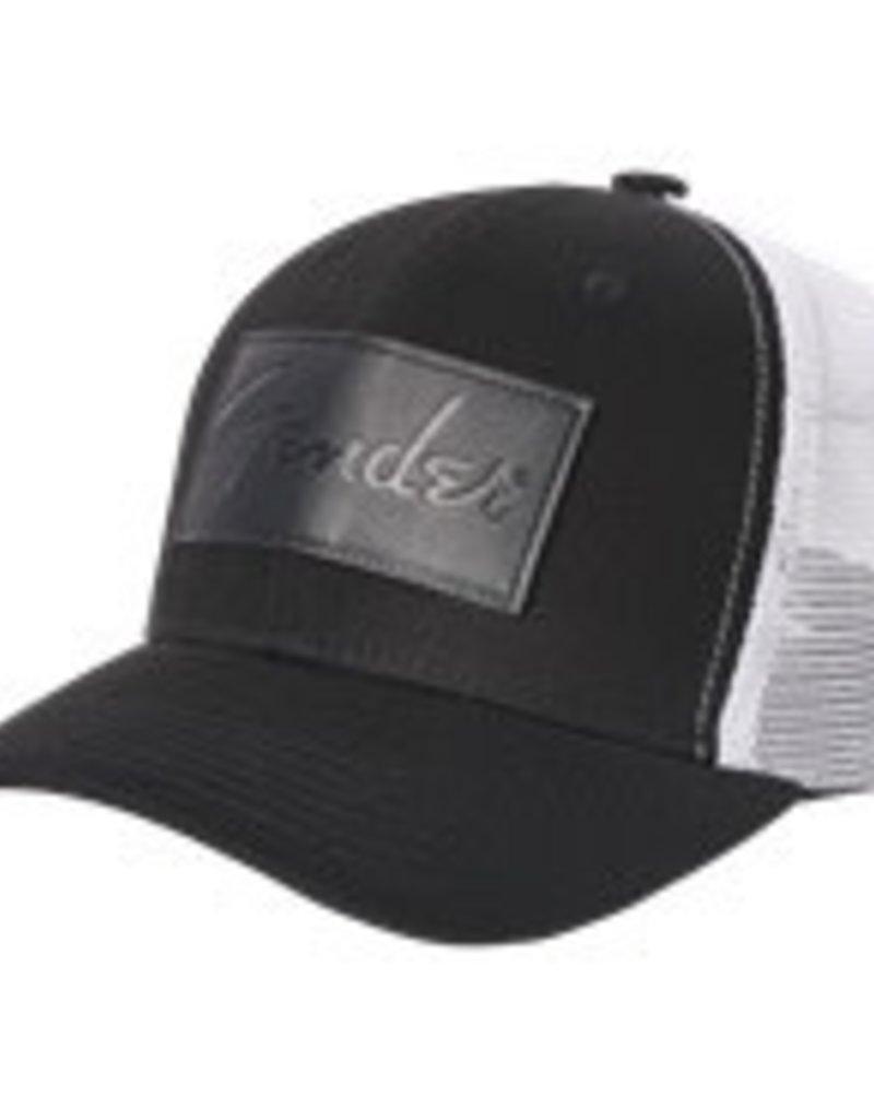 Fender Fender® Debossed Logo Adjustable Hat, Black and White