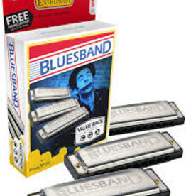 Hohner Blues Band Harmonica Value Pack, Keys C, G, A