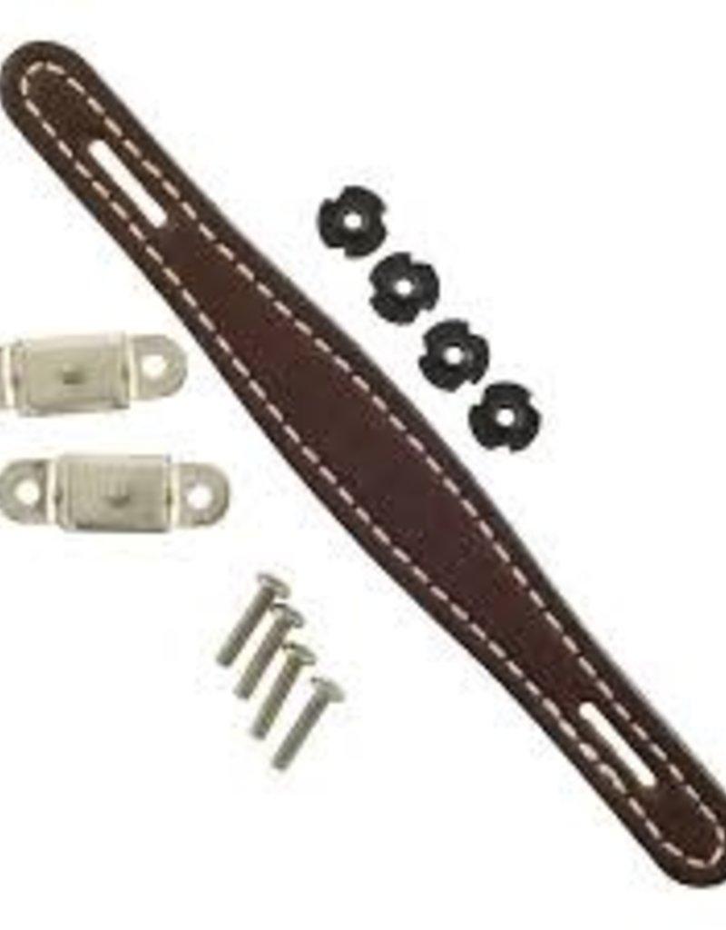 Fender Fender Pure Vintage Stitched Leather Amplifier Handle, Brown, 2-Screw Mount