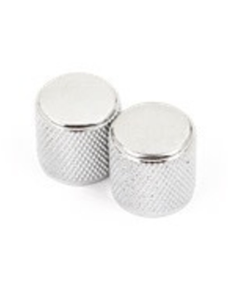 Fender Fender Telecaster/Precision Bass Knobs, Knurled Chrome (2)