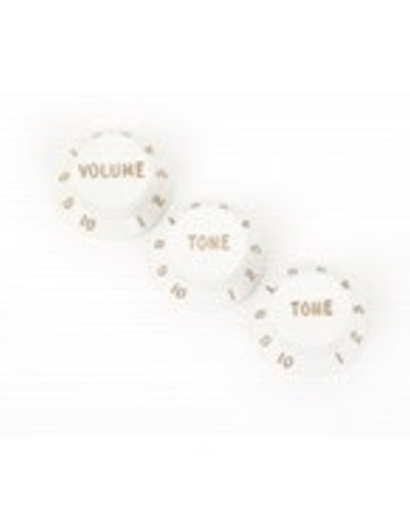 Fender Fender Stratocaster Knobs, White (Volume, Tone, Tone) (3)