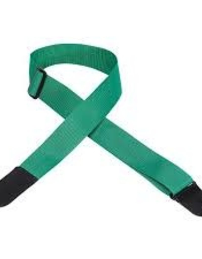 Levy's Levy's M8POLYL-GRN Poly Guitar Strap, Green