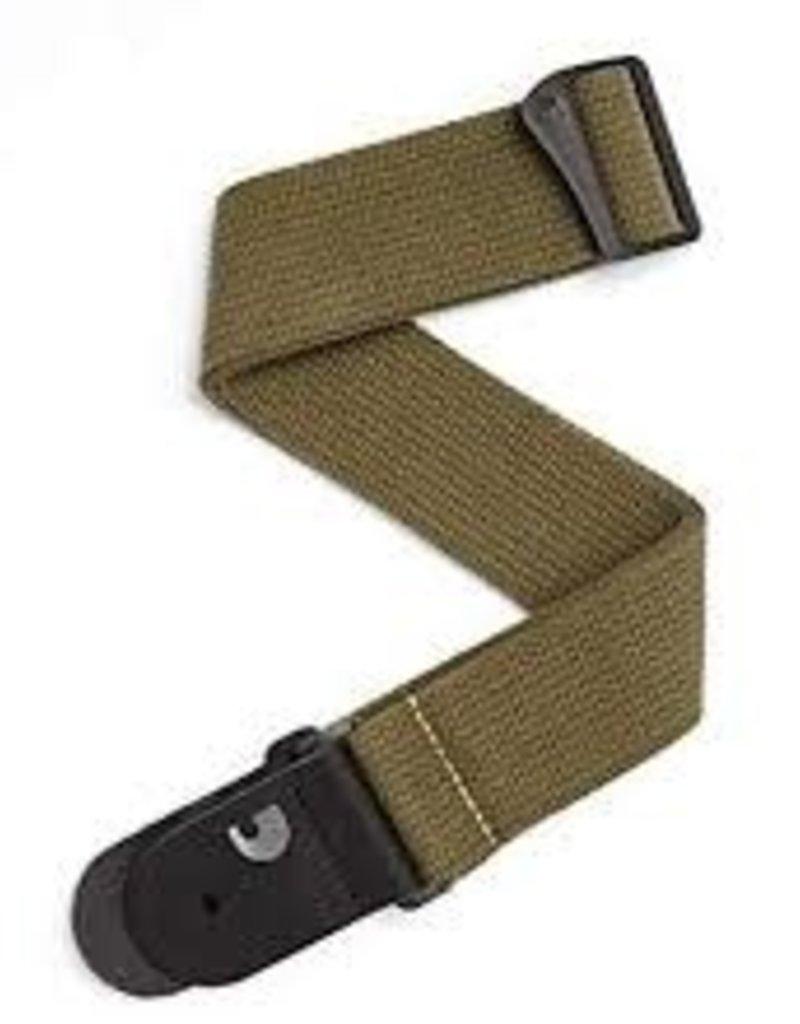 D'Addario D'Addario Cotton Guitar Strap, Army