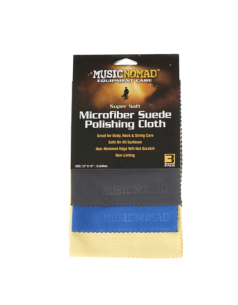 MusicNomad MusicNomad Super Soft Microfiber Suede Polishing Cloth - 3 Pack