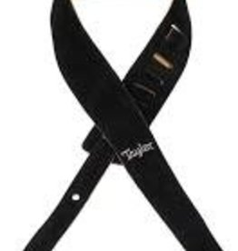 "Taylor Taylor Embroidered Suede 2.5"" Guitar Strap - Black"