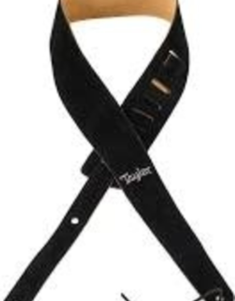 "Taylor Taylor Embroidered Suede 2.5"" Guitar Strap - Black"