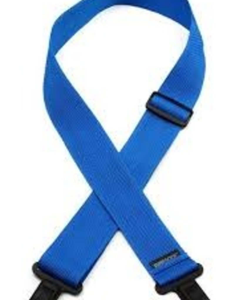 "LM Products 2"" Poly Guitar Strap Blue"