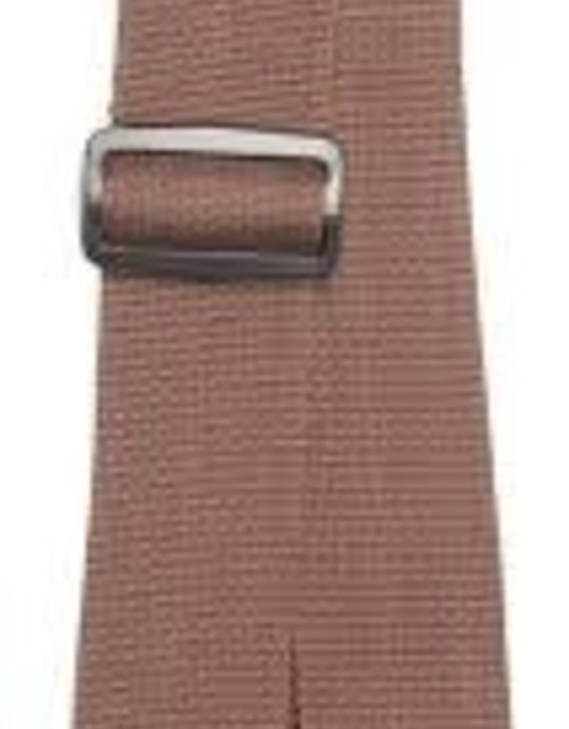 """LM Products 2"""" Poly Guitar Strap Brown"""