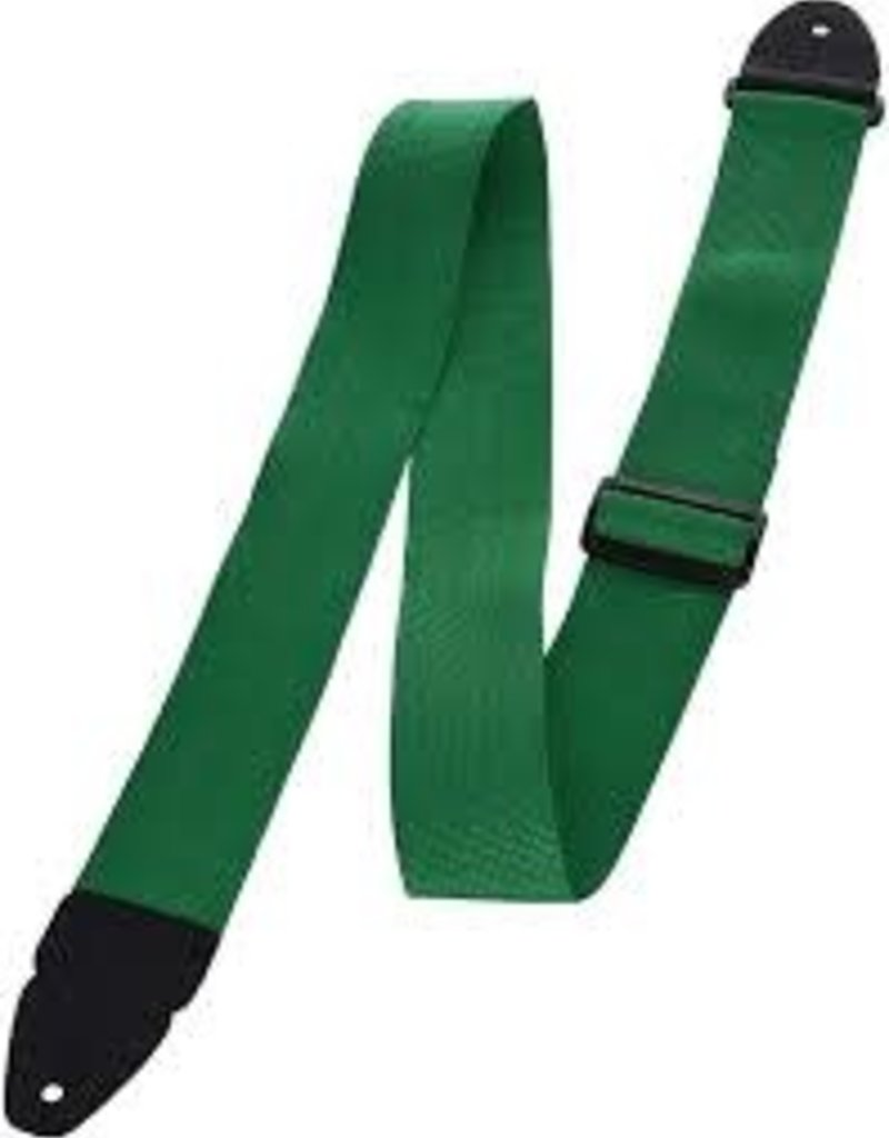 "LM Products 2"" Poly Guitar Strap Green"