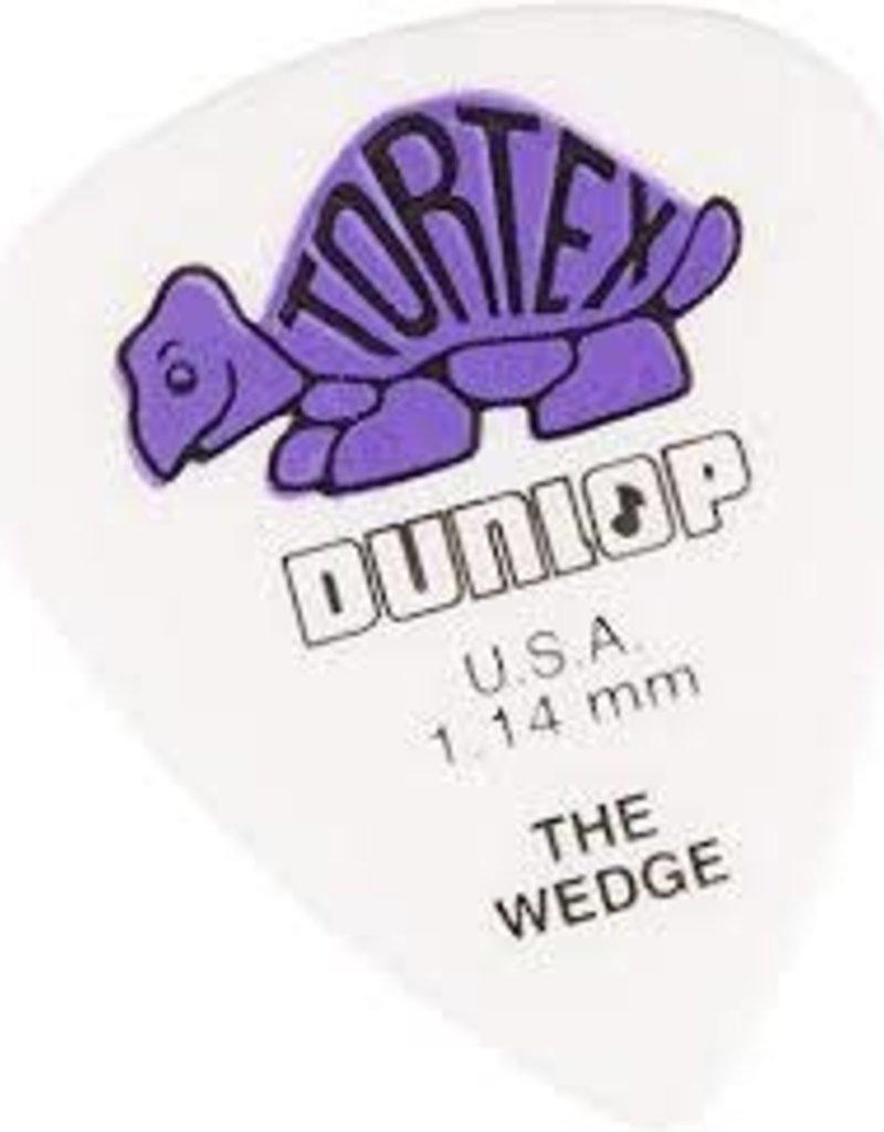 Dunlop Dunlop 424R1.14 Tortex Wedge, White/Purple, 1.14mm, 12 Pack