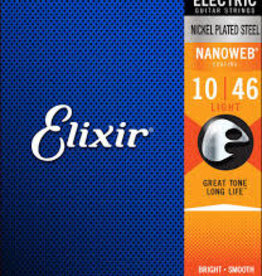 Elixir Elixir Strings 12052 Nanoweb Electric Guitar Strings -.010-.046 Light