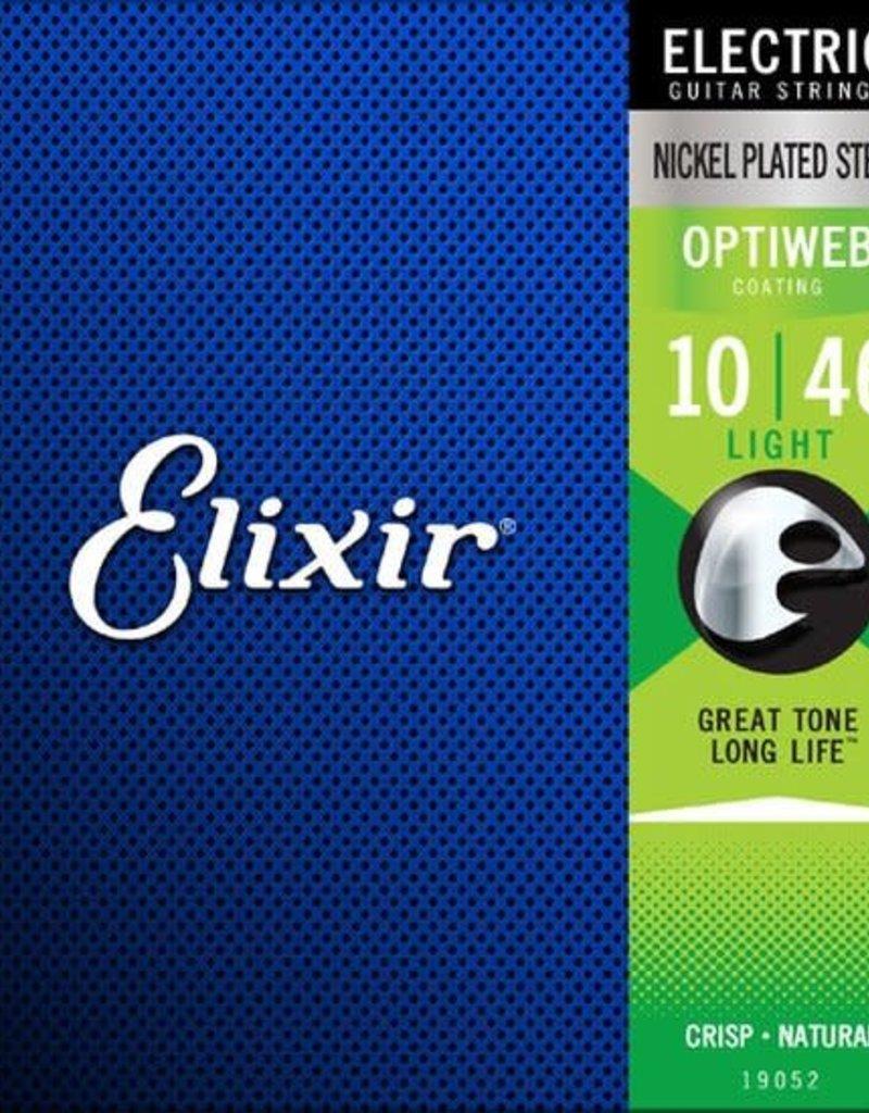 Elixir Elixir 19052 Optiweb Light Nickel-Plated Electric Guitar Strings .10-.46