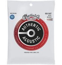 Martin Martin MA150T Authentic Acoustic 80/20 Bronze Guitar Strings Medium Gauge .013-.054