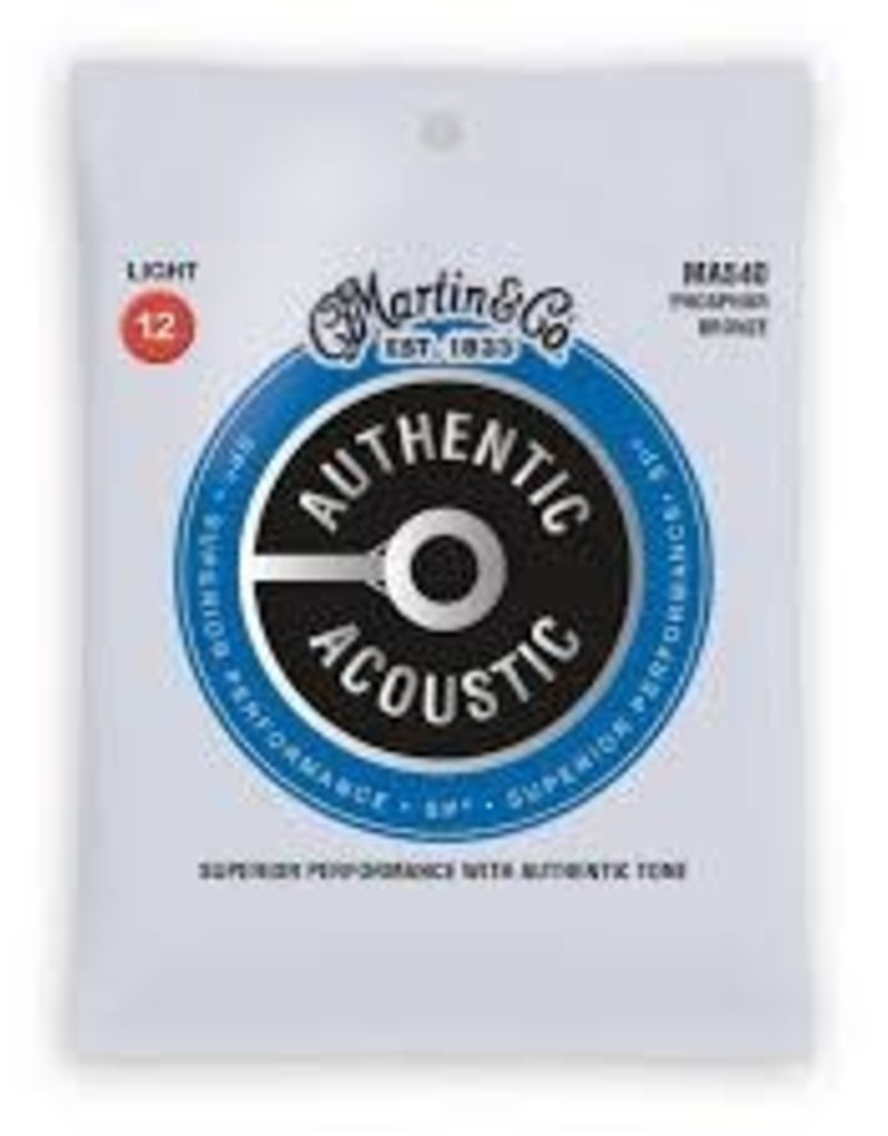 Martin Martin MA540 SP Phosphor Bronze Light Authentic Acoustic Guitar Strings .012-.054