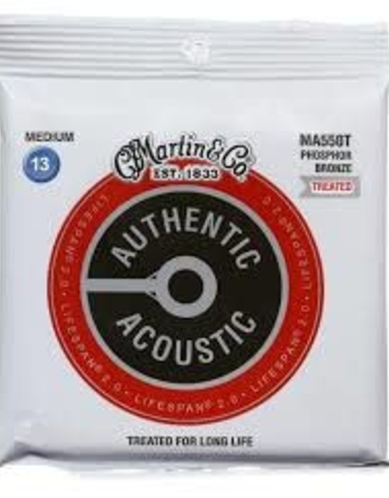 Martin Martin MA550T Authentic Acoustic Lifespan 2.0 Treated Guitar Strings - 92/8 Phosphor Bronze Medium