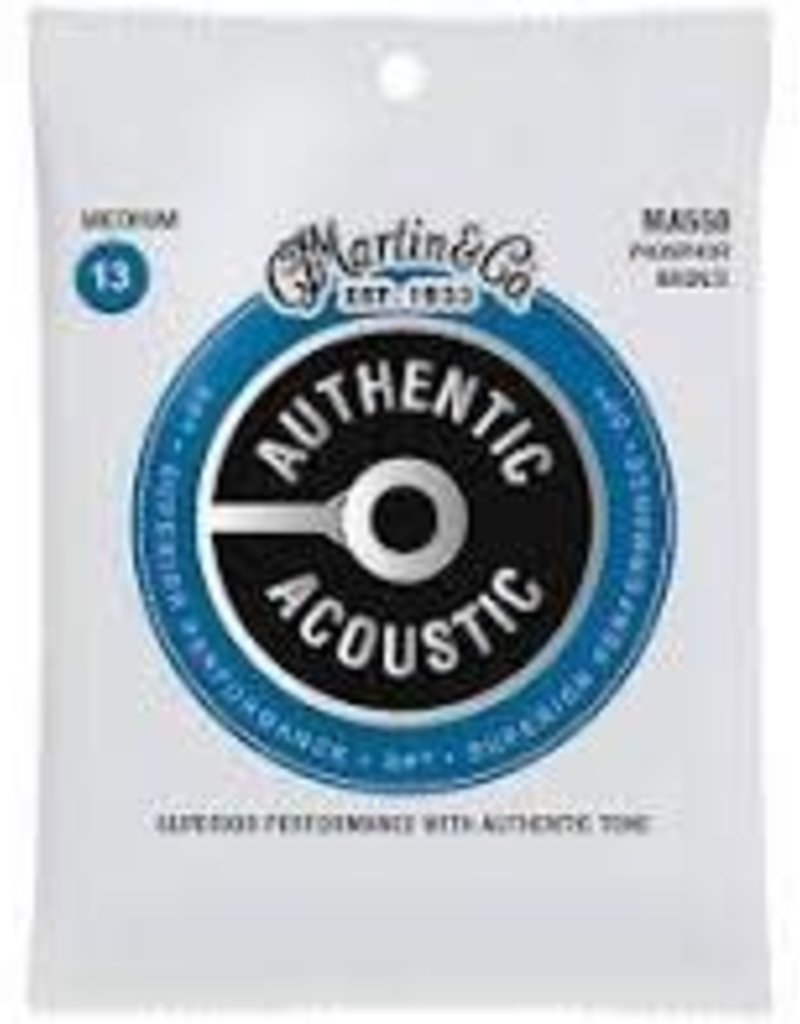 Martin Martin MA550  Phosphor Bronze Authentic Acoustic Guitar Strings Medium .013-.056