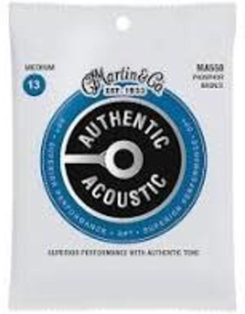 Martin Martin MA550 SP Phosphor Bronze Authentic Acoustic Guitar Strings Medium .013-.056