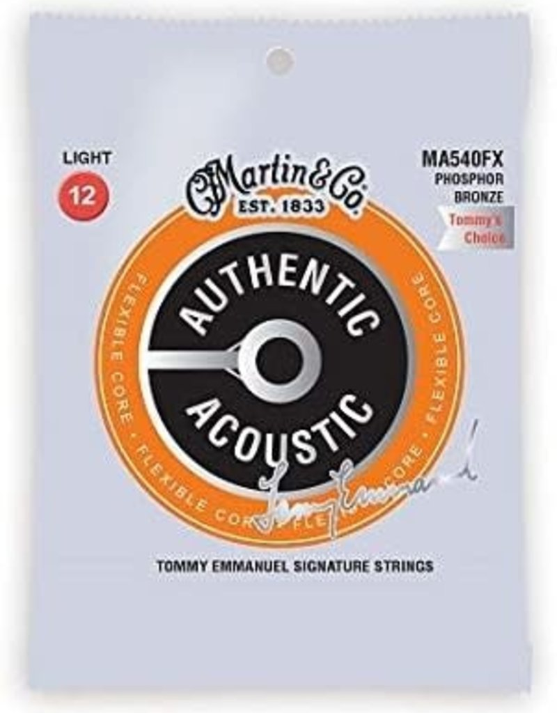 Martin Martin Flexible Core Phosphor Bronze Authentic Acoustic Guitar Strings MA540FX Light Tommy Emmanuel .012-.054