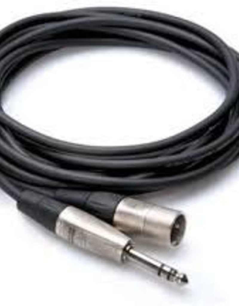 Hosa Hosa HSX-001.5 Balanced Interconnect, REAN 1/4 in TRS to XLR3M, 1.5'