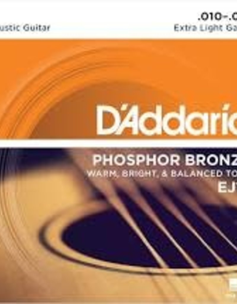 D'Addario D'Addario EJ15 Phosphor Bronze Acoustic Guitar Strings, Extra Light, .10-.47