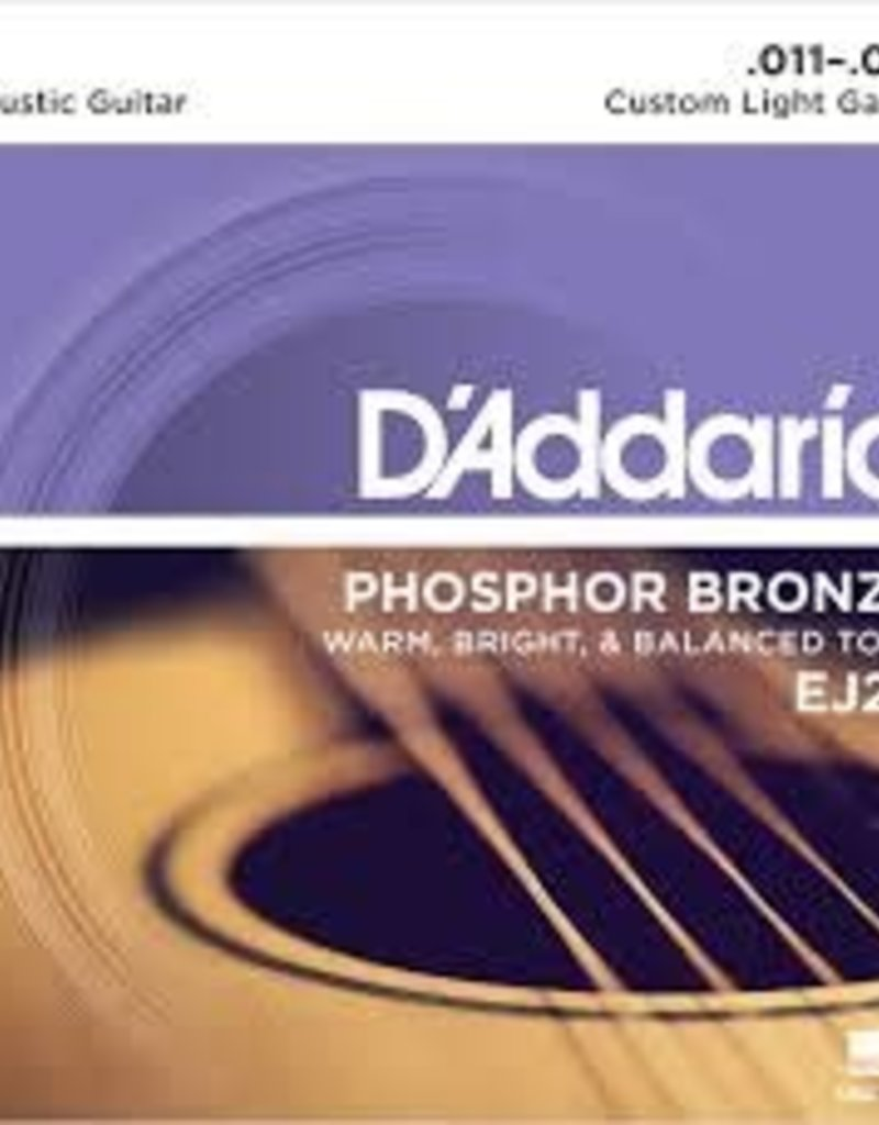 D'Addario D'Addario EJ26 Phosphor Bronze Acoustic Guitar Strings, Custom Light, .11-.52