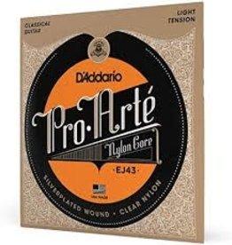 D'Addario D'Addario EJ43 Pro-Arte Nylon Classical Guitar Strings, Light Tension, 3 Sets