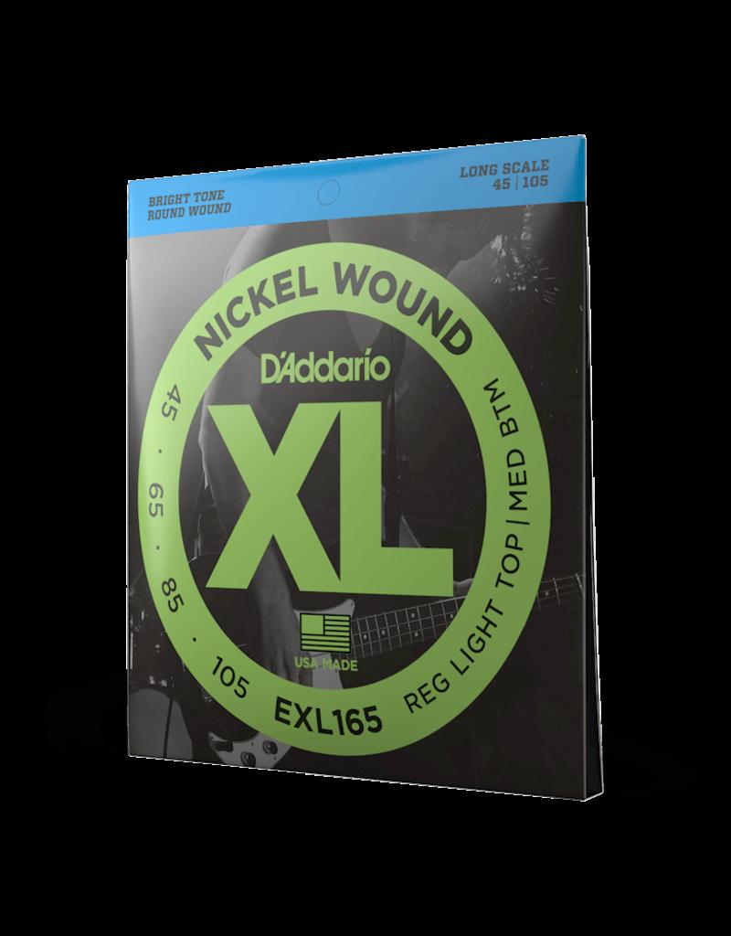 D'Addario D'Addario EXL165 Nickel Wound Bass Guitar Strings, Custom Light, 45-105, Long Scale