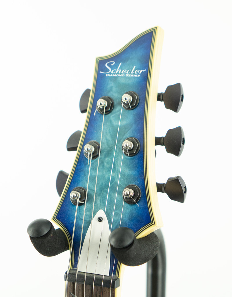 Used Schecter Guitar Research Omen Extreme-6 Electric Guitar Ocean Blue Burst