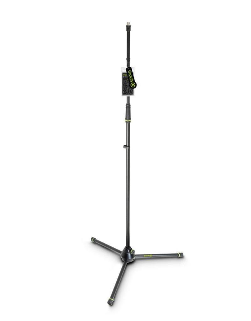Gravity Straight Microphone Stand - Folding Tripod Base