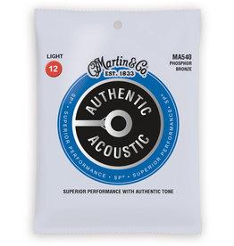 Martin Martin MA540 Authentic Acoustic Superior Performance Guitar Strings - 92/8 Phosphor Bronze Light